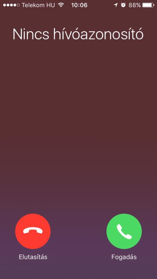 Ismeretlen hívószámról kezdeményezett hívásokat nem áll módunkban fogadni