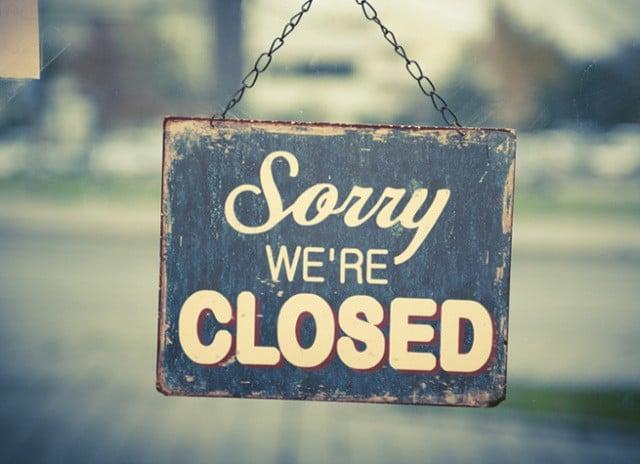 Részlegesen zárva vagyunk